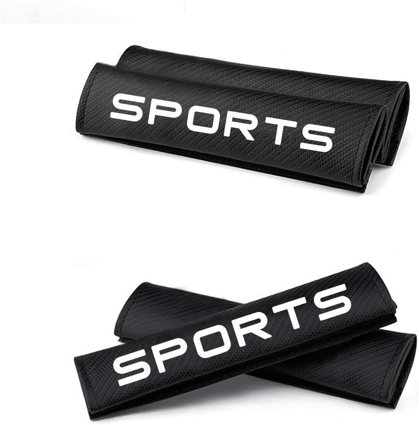 changlaiwang Can be Customized for Volvo XC40 Carbon Fiber Seat Belt Cover Seatbelt Shoulder Pads Protect Neck and Shoulder with Word Sports Blue 2Pcs