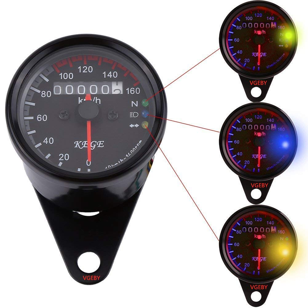 SODIAL Motorcycle Odometer Speedometer Tachometer Gauge Universal LCD Digital Backlight