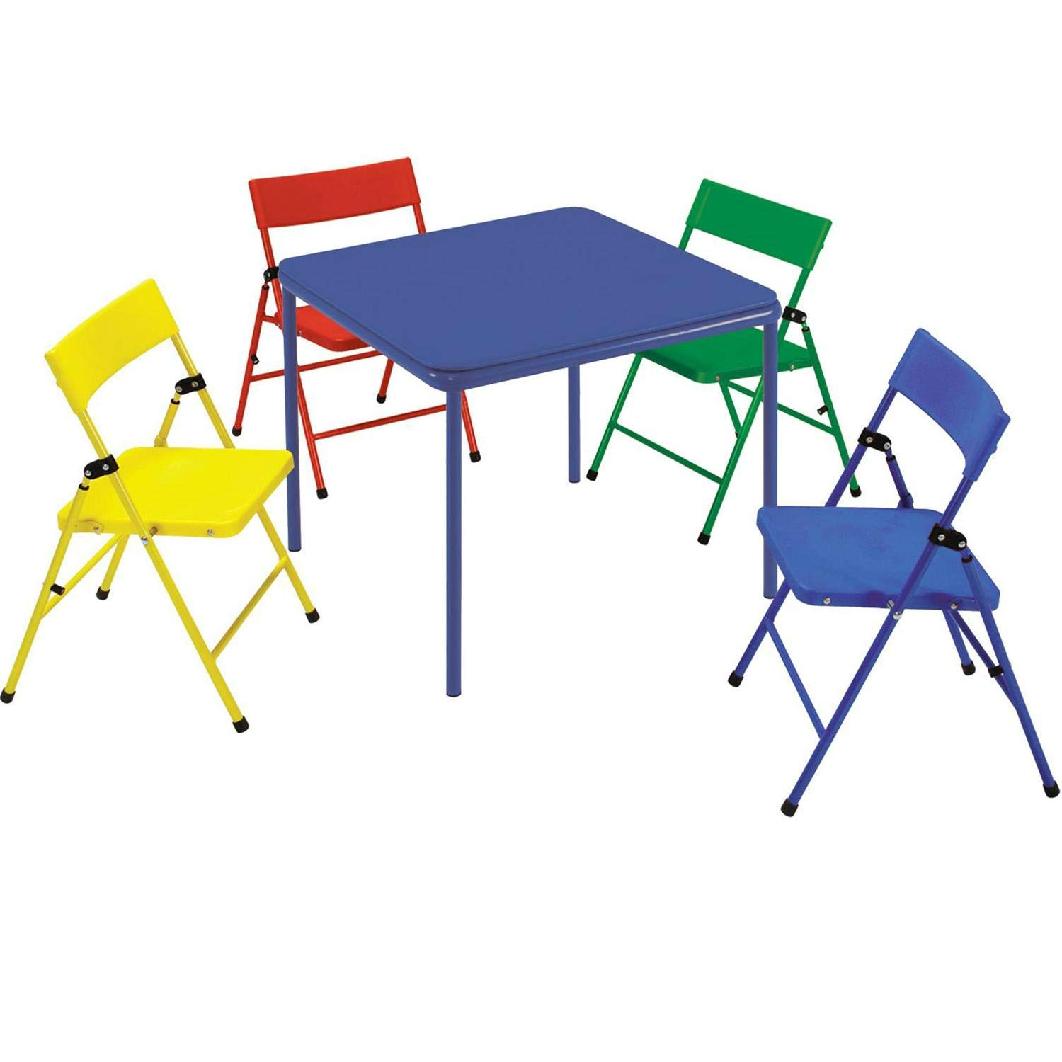Cosco Safety 1st 5-Piece Kid Table and Chair Set Red/Yellow/Blue by Cosco
