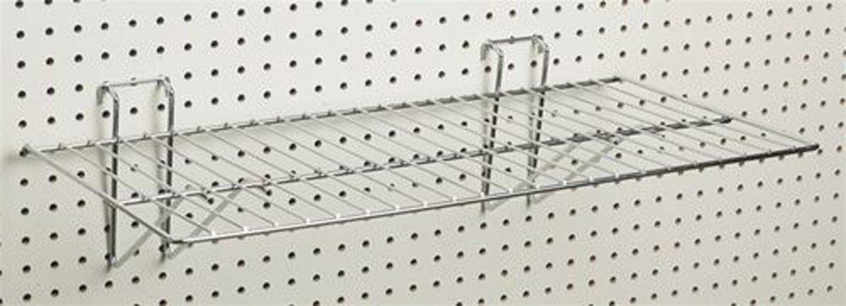 Black Slatwall Grid Pegboard Wire Universal Panel Display Shelf Lot Of 10 New