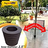 """MYARD Umbrella Cone Wedge fits Patio Table Hole Opening or base 2 to 2.5 Inch, & Pole Diameter 1 1/2"""" (38mm, Dark Brown)"""