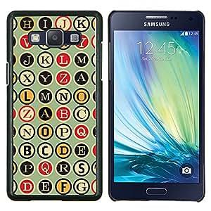 Stuss Case / Funda Carcasa protectora - Metro Máquina de escribir Patrón Escritor - Samsung Galaxy A5 ( A5000 ) 2014 Version