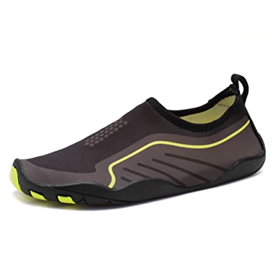 Men Women's Barefoot Quick-Dry Water Sports Aqua Shoes for Swim Walking Yoga Lake Beach Boating (7 B(M)US Women/6 D(M)US Men Yellow)
