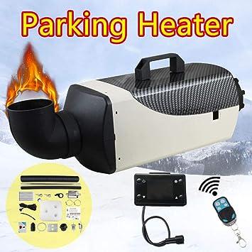 TOPQSC Standheizung Diesel Air Heater 5KW 12//24 V Parking Heater Mit Fernbedienung LCD 10L Auto Diesel Luftheizung Air Fuel Heizung f/ür Auto//Pickup//Big Truck//Van//Bus//RV