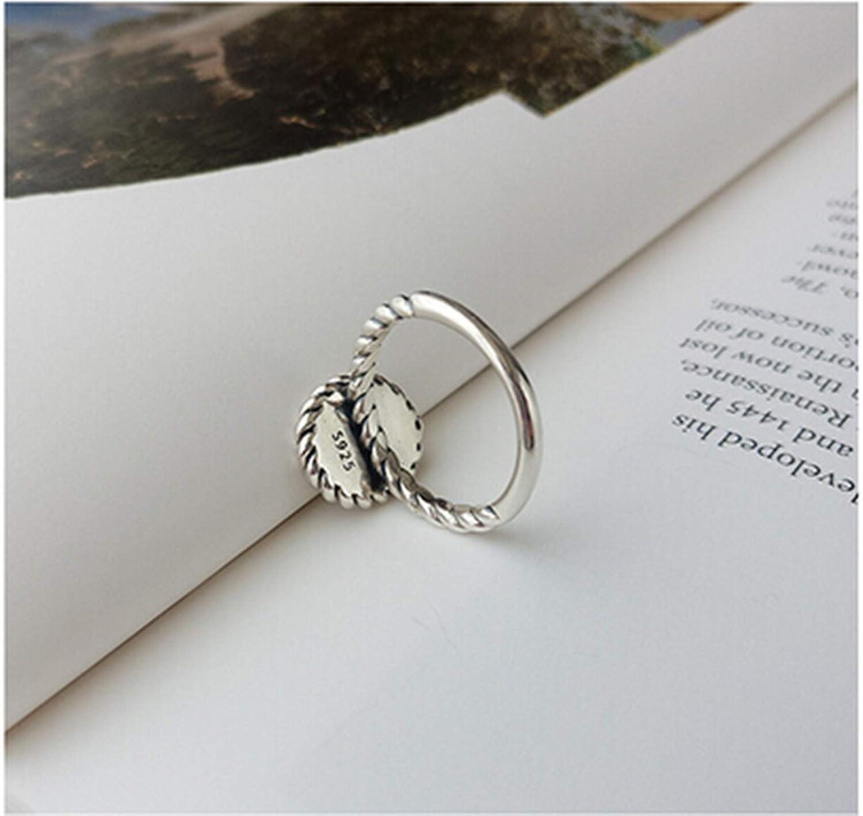 Adisaer 925 Sterling Silver Ring High Polish Silver Heart Shape Braided Pattern LW X16MM Birthday Giftsring