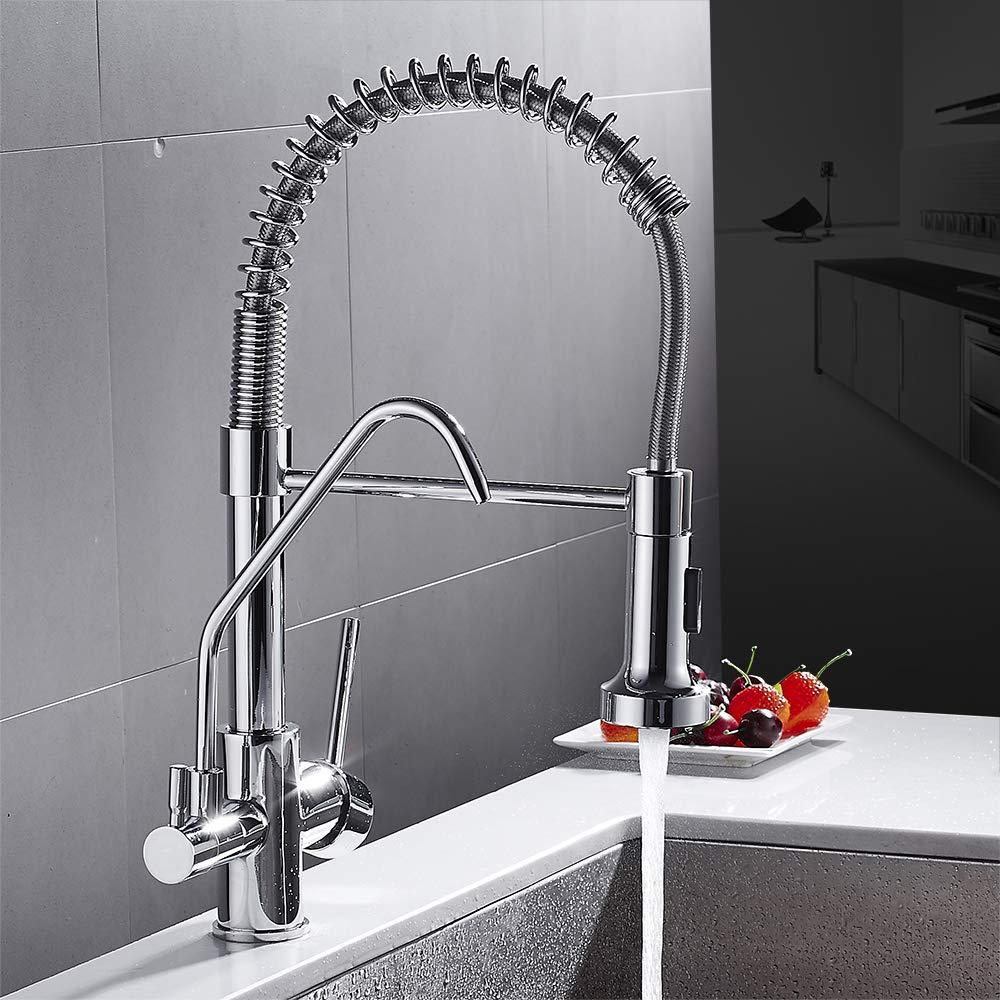 CZOOR Kitchen Faucets torneira para cozinha de Parede Crane for Kitchen Water Filter Tap Three Ways Sink Mixer Kitchen Faucet
