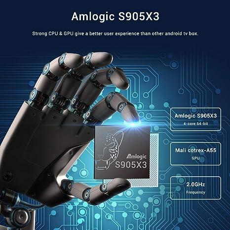A95X Android 9.0 TV Box[4GB RAM+32GB ROM]Quad-core Cortex-A55 Amlogic S905X3 4K Ultra HD Bluetooth 4.2 Dual Band WiFi 2.4G/5GHz Ethernet Network10/100Mwith Wireless Mini Backlit Keyboard Smart TV Box: Amazon.es: Electrónica