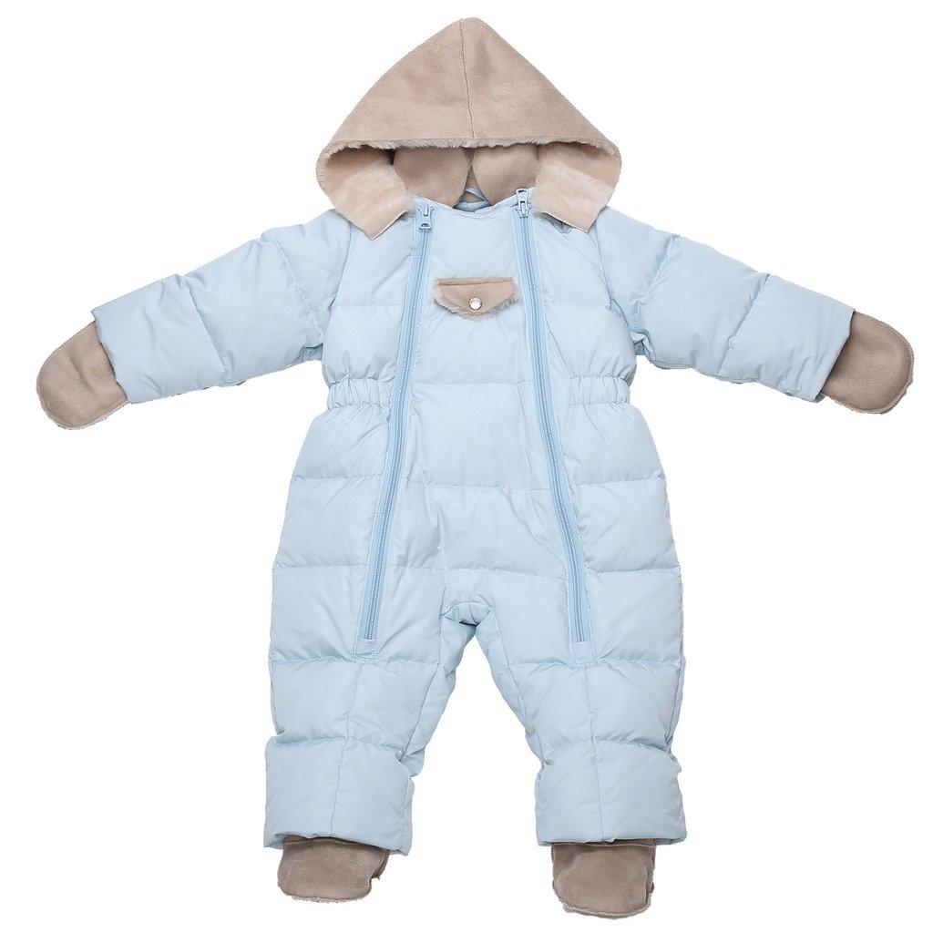 OCEANKIDS Baby Boy's Detachable Faux Sheepskin Hood Duck Down Jumpsuit OC14021024