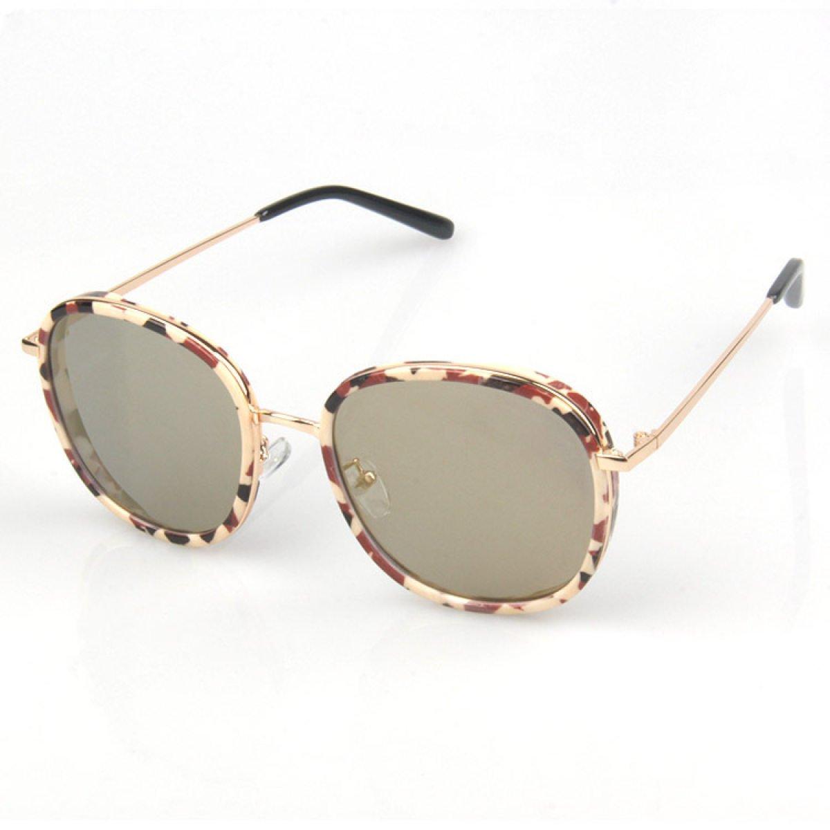 Wkaijc Damen Persönlichkeit Mode Flach Kreativ Retro Reflektierend Sonnenbrille Sonnenbrillen ,C
