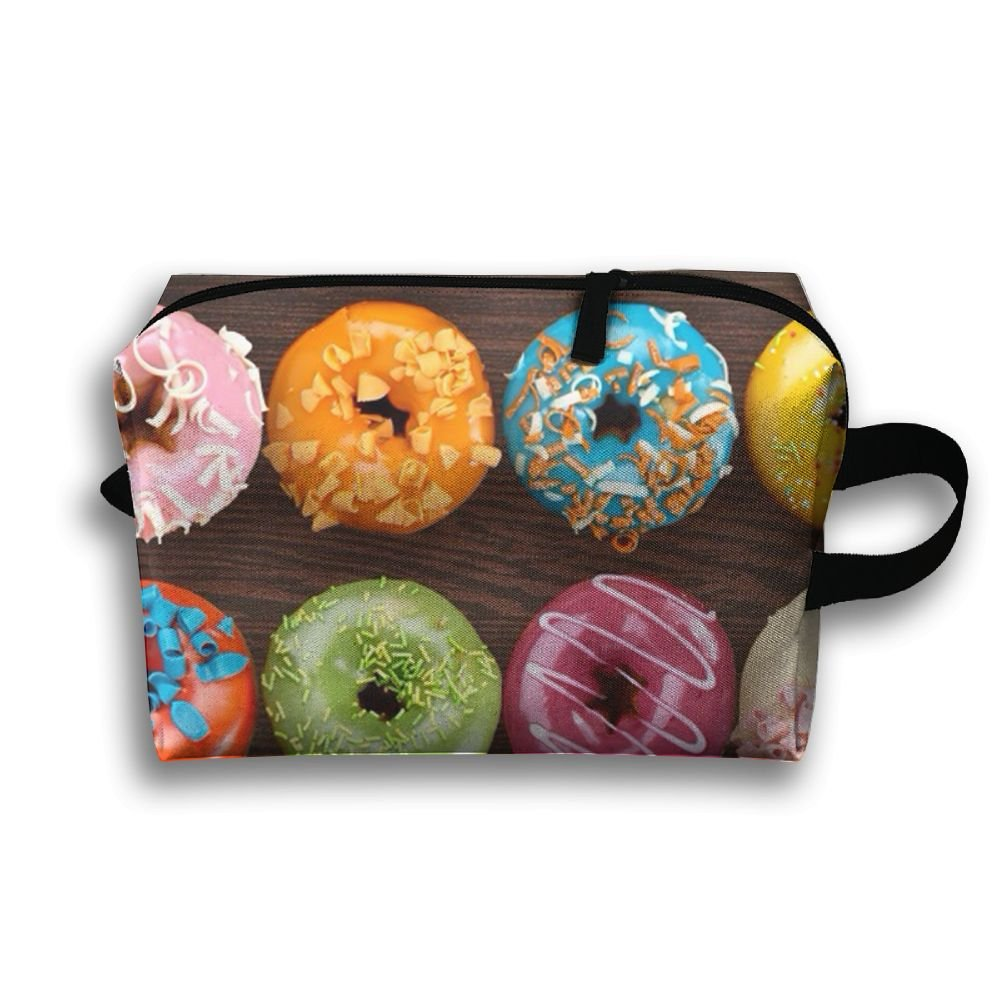 DTW1GjuY Lightweight And Waterproof Multifunction Storage Luggage Bag Delicious Donut Lots Of Color