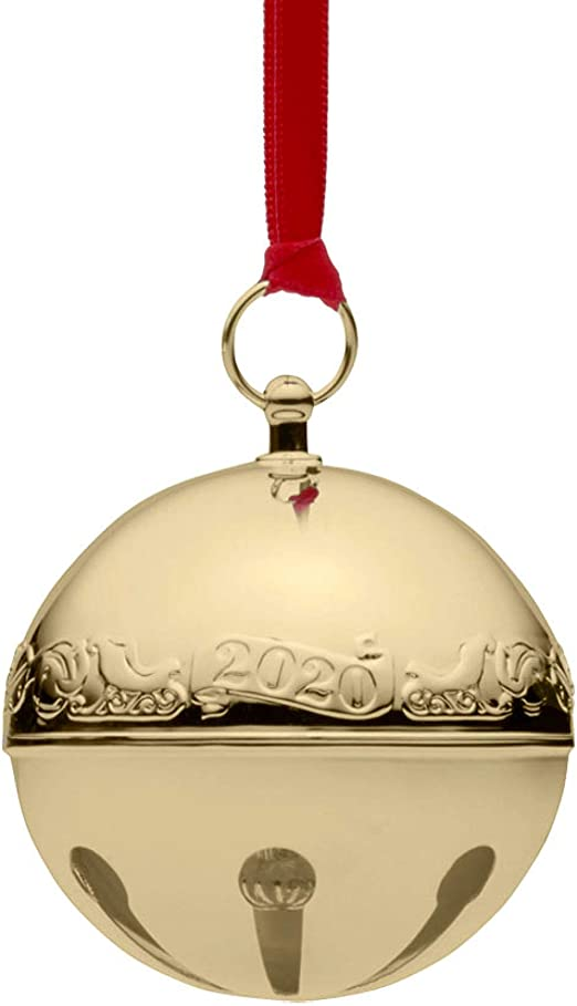 2020 Christmas Bell Ornament Amazon.com: Wallace 2020 Sleigh Bell Gold Plated Christmas Holiday