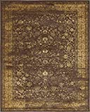 Vintage Inspired Overdyed Design Brown Area Rug 8′ x 10′ FT St. Philips Collection – Perfect for Living Dinning and Bed Room Rugs and Carpets Review