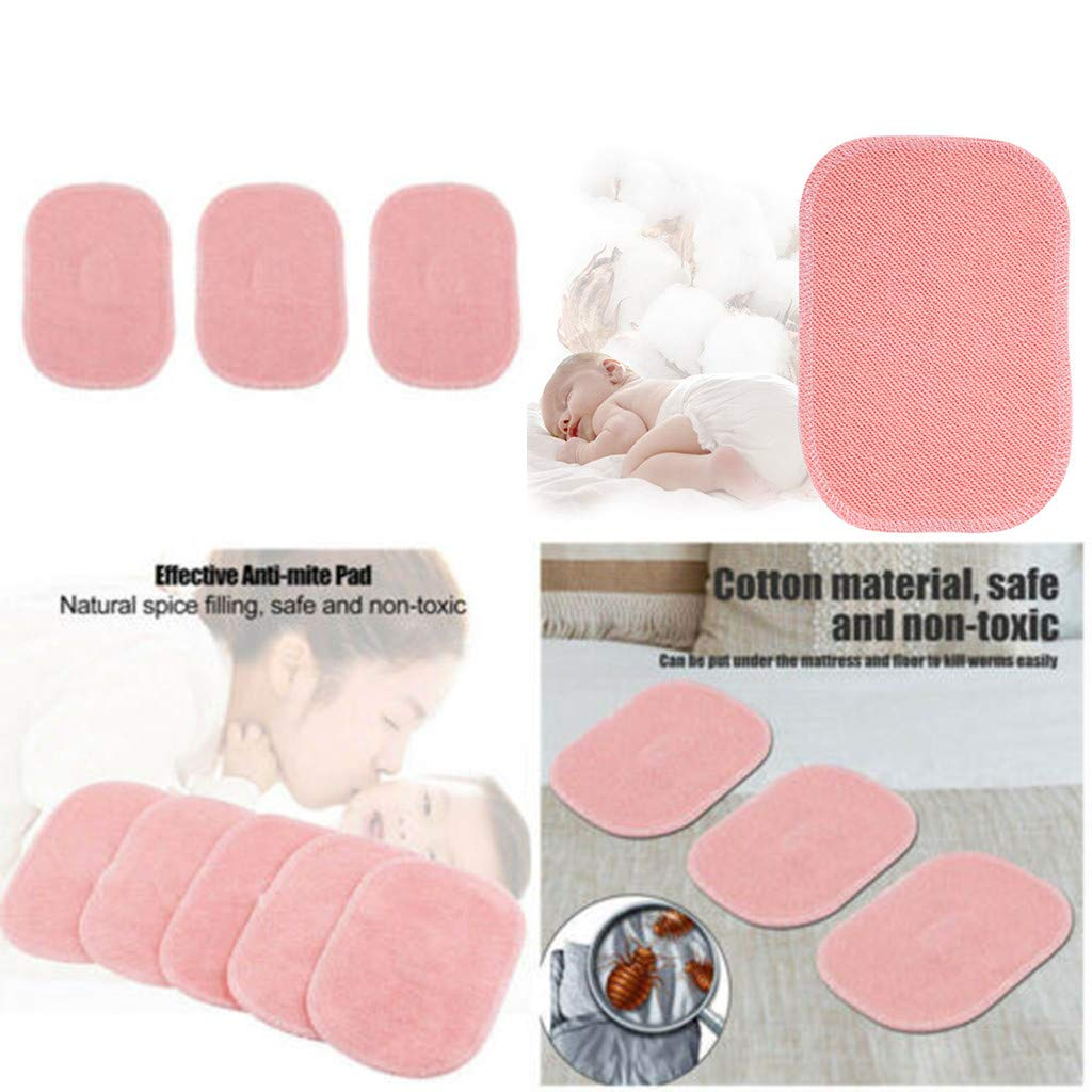 2019 New Dust Mite Killing Pad - Han Shi Safe Non-Toxic Anti-mite Pad for Home Baby Room (Pink, 5PCS) by Han Shi-Home Garden (Image #2)