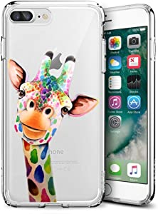 youxieshang Clear Giraffe iPhone 7 Plus iPhone case iPhone 8 Plus Deer Case Customized Design Anti-Scratch Flexible Shock Absorption Soft TPU Protective Elk Phone Case for iPhone 7 Plus 8 Plus