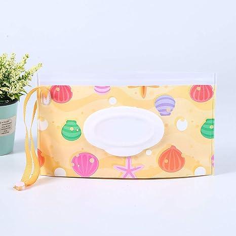 Bolsa de toallitas húmedas para bebé, portátil, dispensador de toallitas de viaje, rellenable
