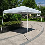 Cheap Pop-Up Canopy Tent – 10′ X 10′ Easy POP UP Wedding Party Tent Foldable With Bag White