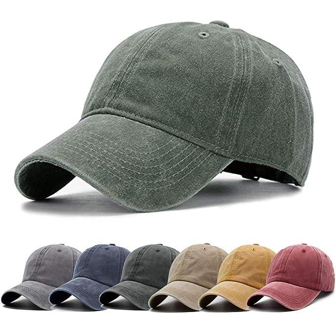e4f02f00ad6fa Men Women Baseball Cap Vintage Cotton Washed Distressed Hats Twill ...