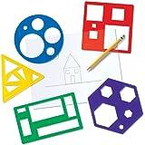 Learning Resources Juego de Plantillas de Formas primarias