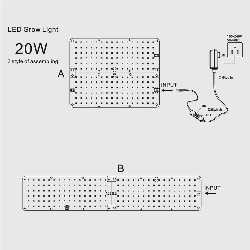 ... Hydroponic Grow Light, LED Grow Light Aluminum Board for Greenhouse,  Grow Light Stand, Vegetative Growth of seedling, flowers, Herbs : Garden &  Outdoor