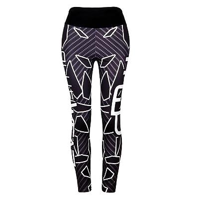SO-WU Women Print High Elastic Waist Yoga Fitness Leggings Stretch Sports Pants