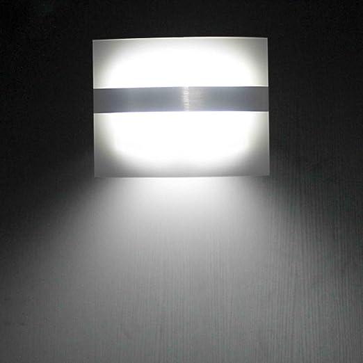 LEADSTAR LED Luces con Sensor de Movimiento Funciona con Pilas para Pared Patio Camino de Entrada Escaleras - Blanco Frío: Amazon.es: Iluminación