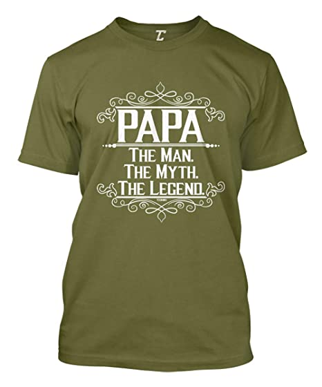 f0a01e31e Papa The Man, The Myth, The Legend Men's T-Shirt | Amazon.com
