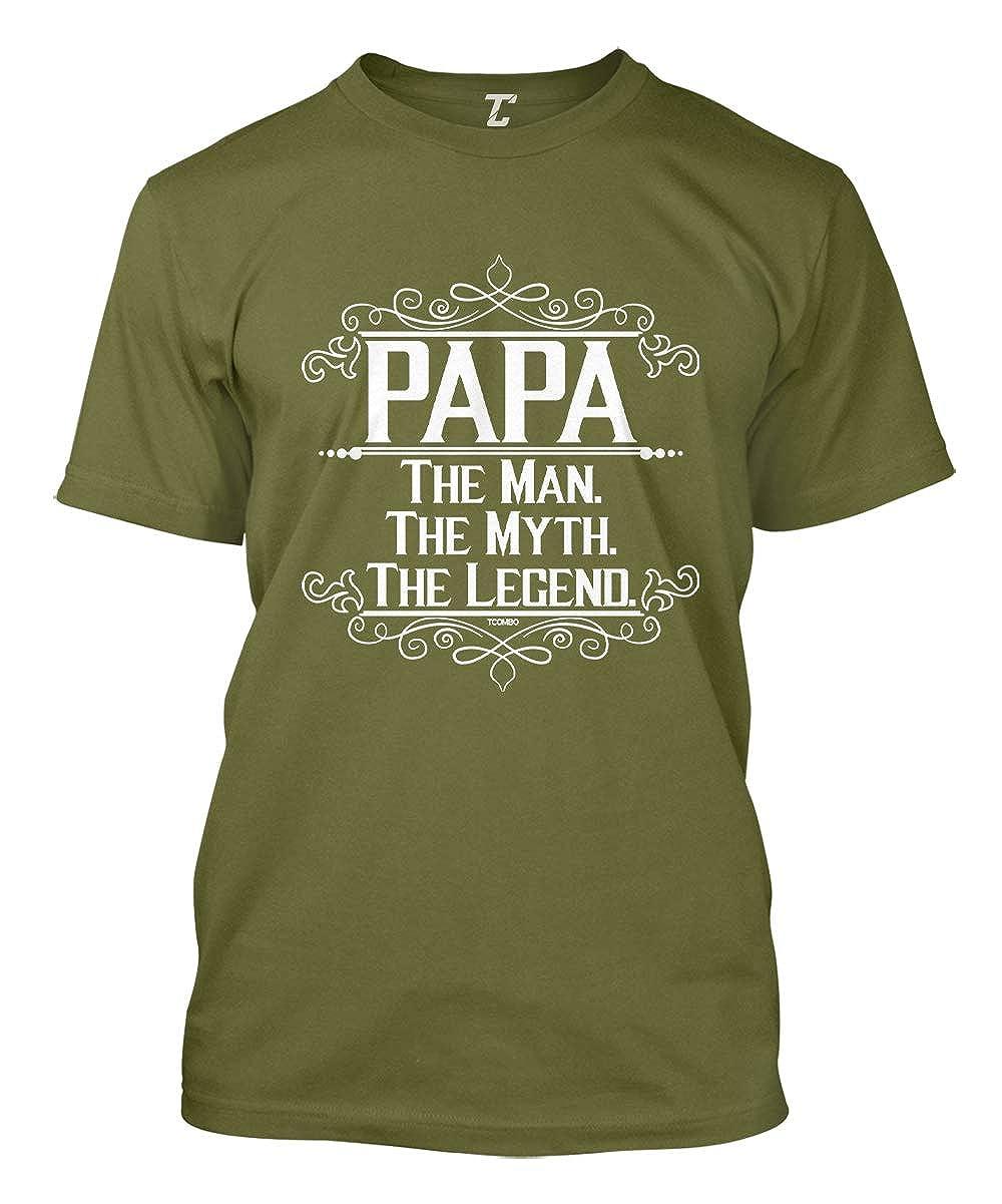 71e1c7e7 Papa The Man, The Myth, The Legend Men's T-Shirt | Amazon.com