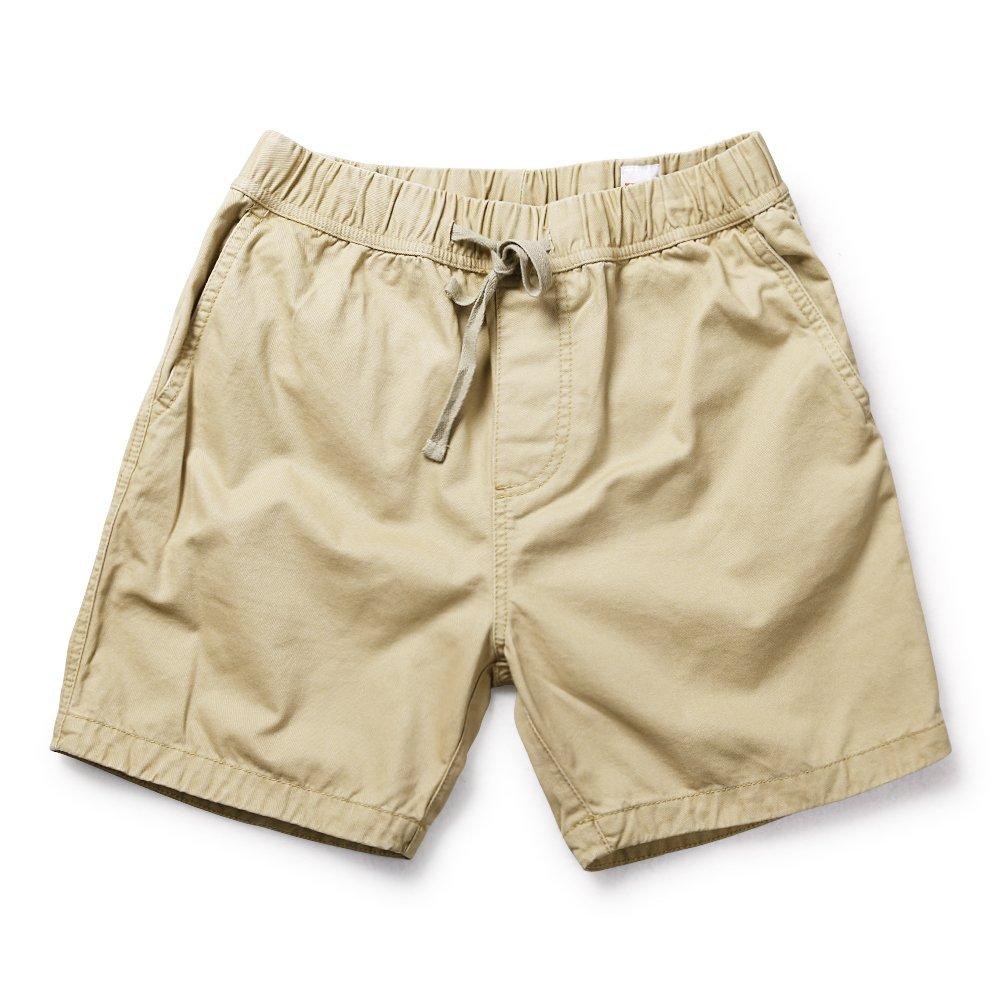 OCHENTA Men's Loose Fit Drawstring Twill Cargo Shorts Khaki Tag 4XL - US 40