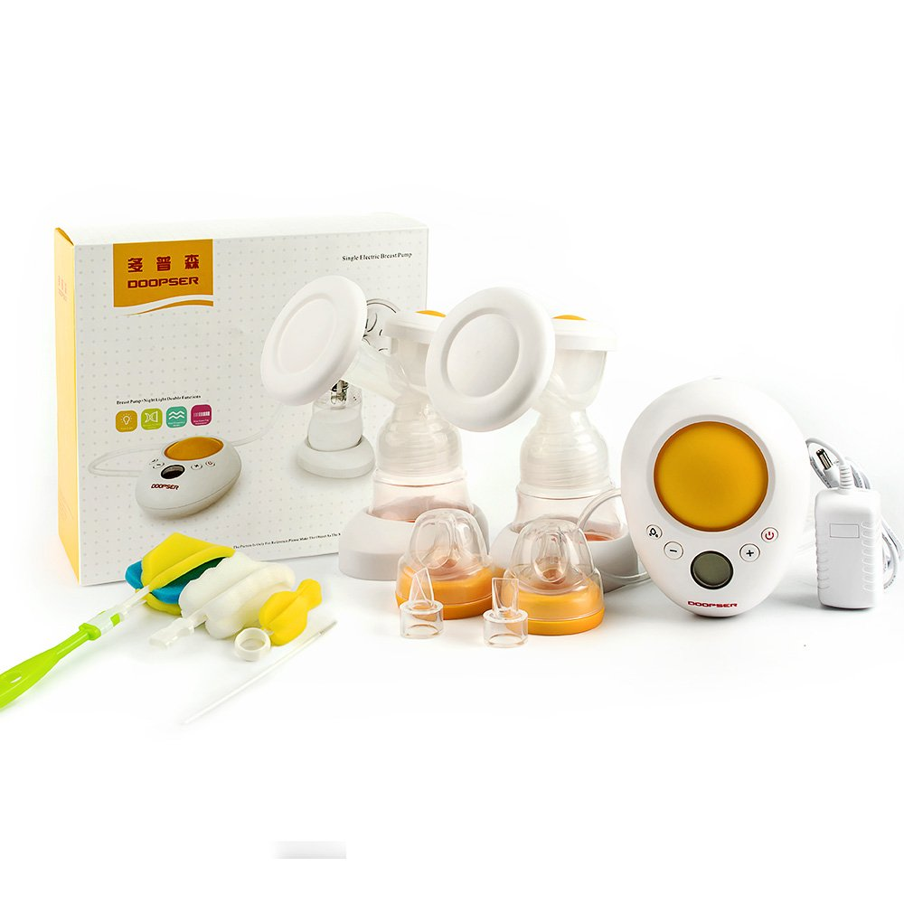 DOOPSER Double/Single Electric Breast Pump 2 Mode & Automatic Massage&9 Levels Suction