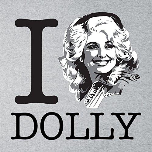 I Heart Dolly Parton Women's Hooded Sweatshirt Heather Grey