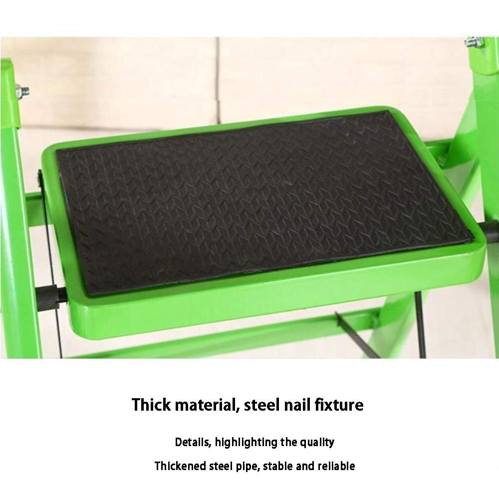 Leiter 3 Stufen Klapptritt Klappsicherung einfach zu verstauen IRVING trittleiter Farbe : Gray