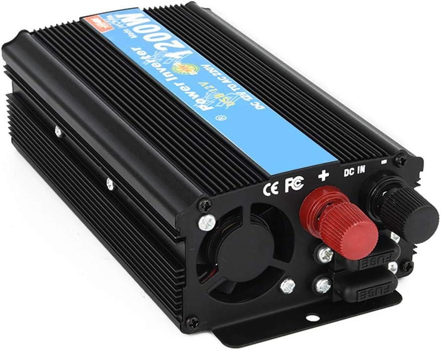 1200W Mejorado convertidor DC12V//24V del Coche de la Onda de Seno a AC110V//220V Que Conduce la Fuente de alimentaci/ón,24vto220v CAPTIANKN Inversor de energ/ía autoMotor