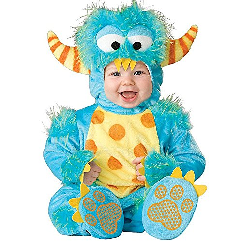 Toddler Baby Infant Boy Blue Monster Halloween Dress Up Costume Outfit