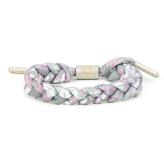 81f79143f318 Rastaclat Carnation Pink White Silver Shoelace Bracelet  Amazon.ca   Clothing   Accessories