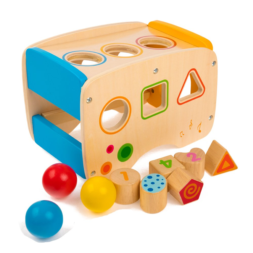 rolimate Wooden Learning Hammering & Pounding Toys + 8 Notes Xylophone + Shape Color Recognition, Best Birthday Gift Toy for Age 1 2 3 Years Old and Up Kid Children Baby Toddler Boy Girl by rolimate (Image #6)
