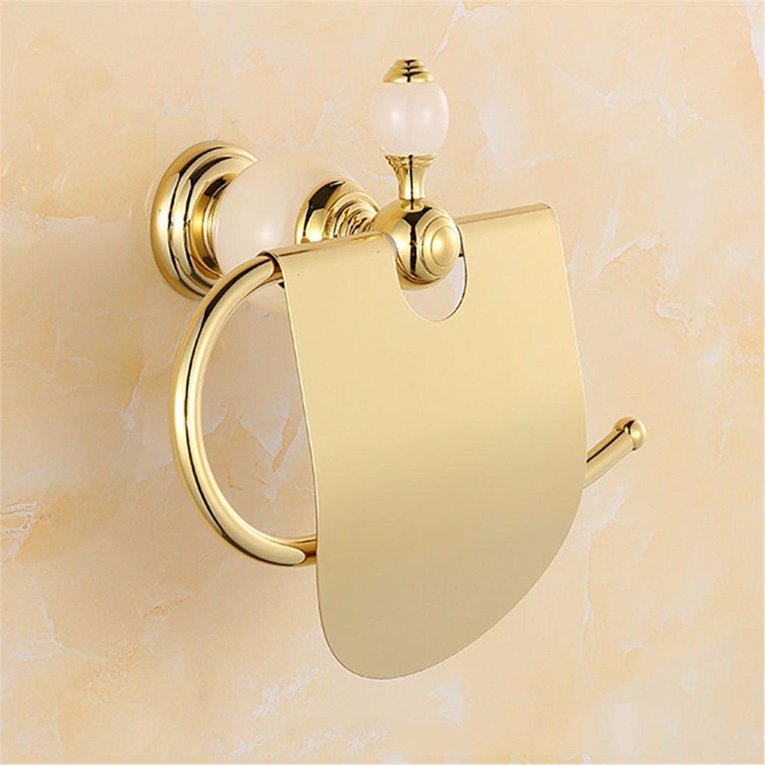 AiRobin-Accessorio per il bagno con barra portasciugamani a parete in ottone dorato decorato in ottone dorato