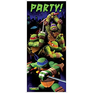 "Plastic Teenage Mutant Ninja Turtles Door Poster, 60"" x 27"""
