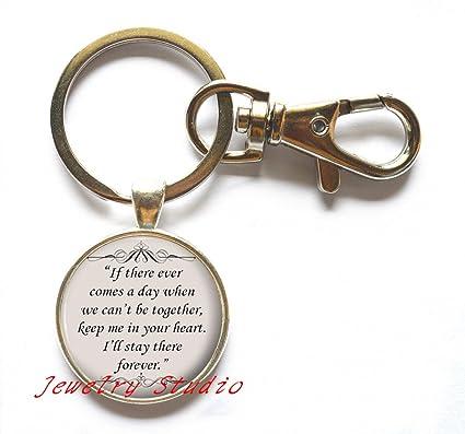 Amazon Com Charming Fashion Keychain Friends Gift Idea Silver