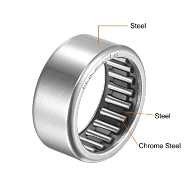 30mm Width 40000N Static Load 21800N Dynamic Load 10100rpm Limiting Speed 2pcs 26mm OD Open End 20mm Bore uxcell HK2030 Drawn Cup Needle Roller Bearings