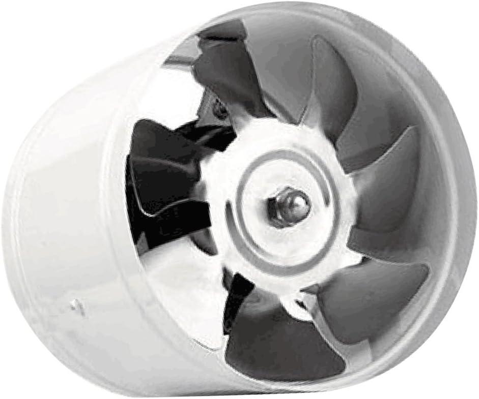LOVIVER Soplador en Línea Extractor de Ventilación Ventilador de Aumentador de Presión de Conducto de 6 Pulgadas 40w - Blanco, 150 mm