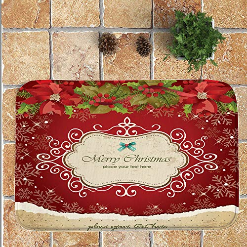 134284f9fa99 Hot Sale!DEESEE(TM)Non-Slip Merry Christmas Welcome Doormats Indoor Home  Carpets Decor 40x60CM (F)