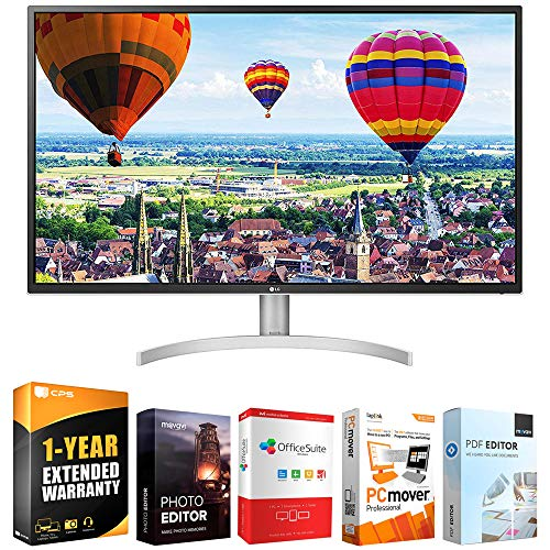 LG 32QK500-C 32-inch Class QHD LED IPS Monitor with Radeon FreeSync Bundle with Elite Suite 18 Standard Editing Software Bundle and 1 Year Extended Warranty