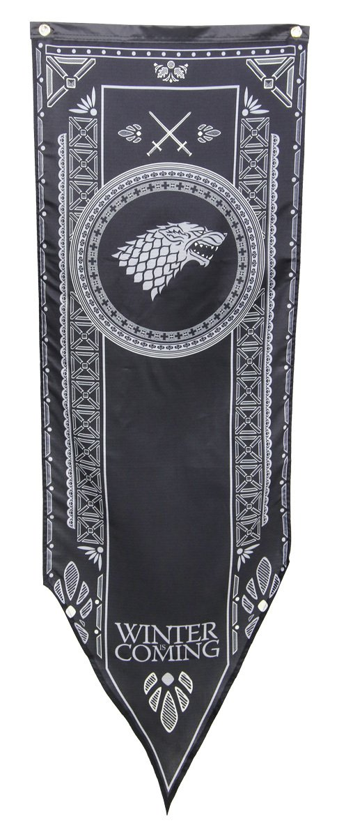 Calhoun Game of Thrones House Sigil Tournament Banner (19'' by 60'') (House Stark)