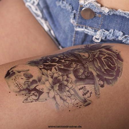 2 X Arm Tattoo Schwarz Bis Dunkel Blau Temporäres Tattoo Zum Kleben