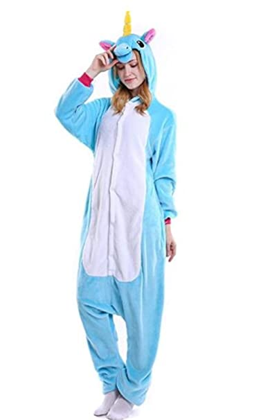 441ca01b570 Amazon.com  Luyeiand Adult Unicorn Pajamas Animal Cosplay Costume Onesie   Clothing