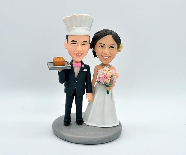 Amazon.com: Custom Cake Topper,Chefs Cake Topper,Wedding Cake ...