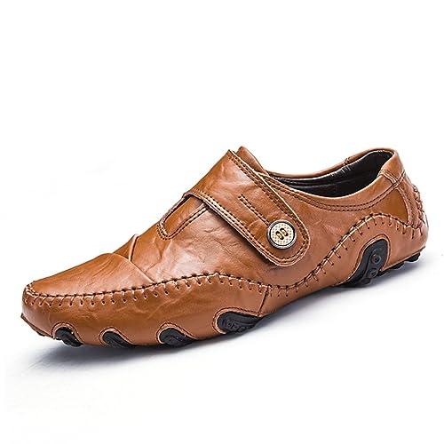 Hombre Zapatillas Casual Zapatos Mocasines Planos de Cuero Slip On Footwear Zapatos Masculinos: Amazon.es: Zapatos y complementos