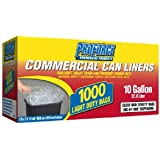 ProForce Clear Commerical Can Liners - 1000 ct