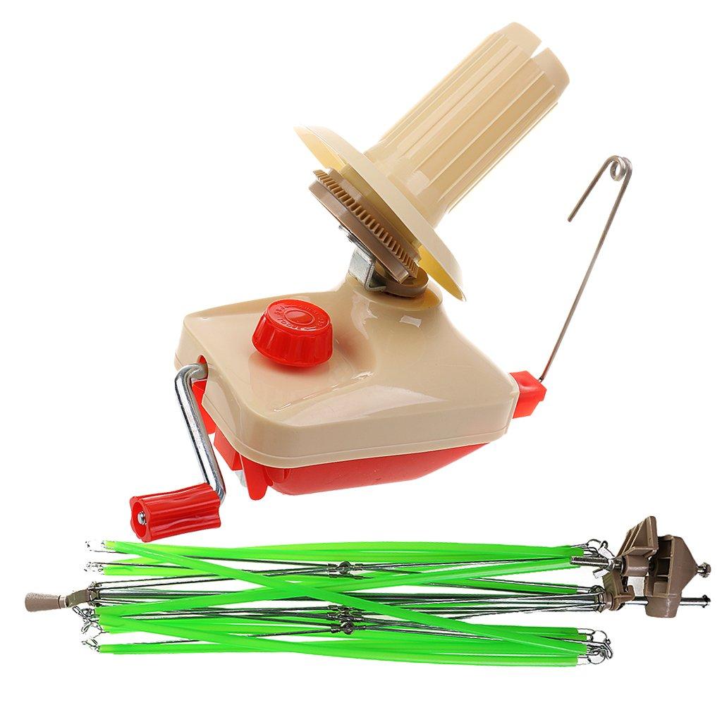 2 Pieces/Set Umbrella Swift Yarn Winder Hand Operated Ball Winder Bobbin Winder Holder Knitting Tool