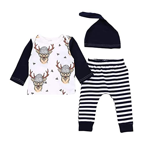 4ff2c926a8a Little Hand Newborn Baby Boys Girls Romper Toddler Jumpsuit Bodysuit Outfit  Clothes+Hat with Pant